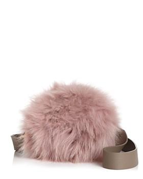 Arron - Small Leather & Fur Circle Shoulder Bag