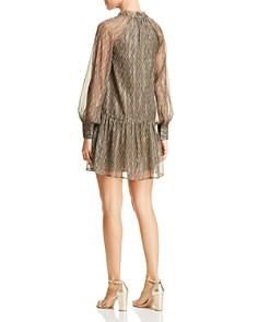 Scotch & Soda - Metallic Print Flutter Dress
