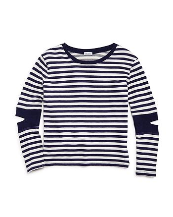 Splendid - Girls' Terry Striped Cutout Sweatshirt - Big Kid