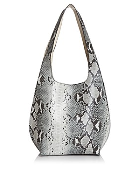 Street Level - Snake Print Reversible Hobo