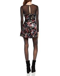 BCBGeneration - Floral Crushed-Velvet Dress