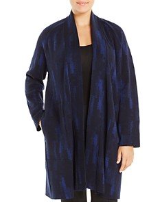 Eileen Fisher Plus - Printed Open-Front Jacket