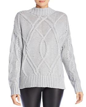John and Jenn - Brody Crisscross Cable-Knit Sweater