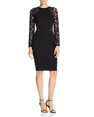 French Connection Viven Lace-Sleeve Sheath Dress