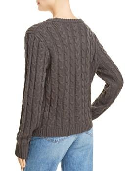 AQUA - Asymmetric Cable Knit Sweater - 100% Exclusive