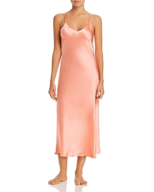 Vintage Inspired Slips Ginia Silk V-Neck Nightgown AUD 261.58 AT vintagedancer.com