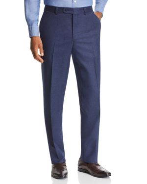 Jack Victor Flannel Classic Fit Wool Dress Pants