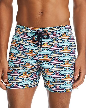 Vilebrequin - Moorise Mykonos Boat-Print Swim Shorts