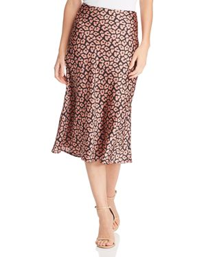 COTTON CANDY LA Leopard Print Midi Skirt in Mauve/Black