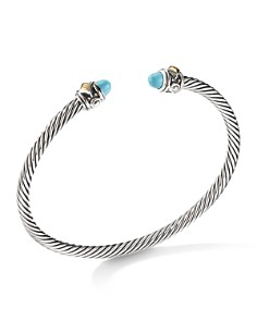 David Yurman - Renaissance Bracelet with Turquoise & 18K Yellow Gold