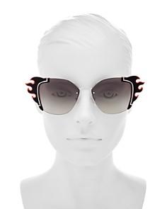 Prada - Women's Mirrored Square Sunglasses, 64mm