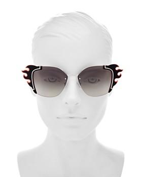 5468bea1900d ... clearance 64mm prada womens mirrored square sunglasses 64mm 6e7d7 b1bc1  ...