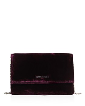 KAREN MILLEN - Medium Velvet Clutch