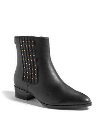 KAREN MILLEN Studded Leather Ankle