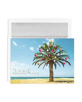 Masterpiece - Studios Decorated Palm Tree Holiday Cards, Box of 18