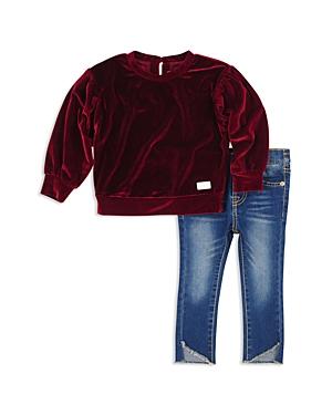 7 For All Mankind Girls Velvet Top  Jeans Set  Little Kid