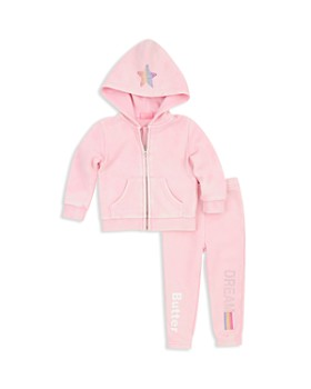 Butter - Girls' Embellished Dream Unicorn Fleece Hoodie & Sweatpants Set - Little Kid