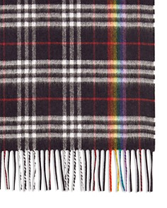 Burberry - Rainbow Plaid Cashmere Scarf