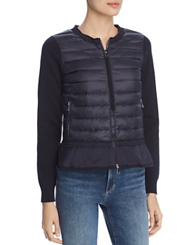 9d0d10f01f5e Moncler - Tricot Mixed Media Sweater Jacket ...