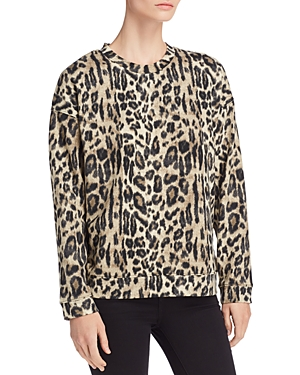 Kenneth Cole Lightweight Leopard-Print Sweatshirt