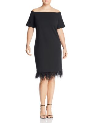 Embellished Off The Shoulder Dress by Vince Camuto Plus