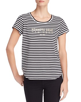 Kenneth Cole - Kam Striped Logo-Graphic Tee