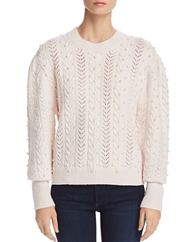 Joie - Tinala Embellished Pointelle Sweater