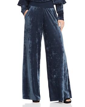 Joie - Lemani Velvet Wide-Leg Pants