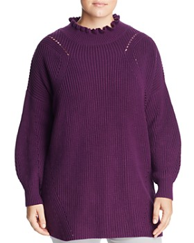 525 America Plus - Ruffled Turtleneck Sweater