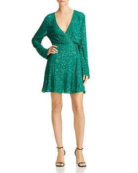 Show Me Your MuMu - Phyllis Embellished Wrap Dress