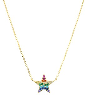 """AQUA - Rainbow Star Pendant Necklace in 18K Yellow Gold-Plated Sterling Silver, 15"""" - 100% Exclusive"""