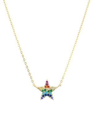 Aqua Rainbow Star Pendant Necklace in 18K Yellow Gold-Plated Sterling Silver, 15 - 100% Exclusive