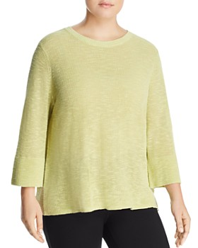 Eileen Fisher Plus - Three-Quarter Sleeve Sweater