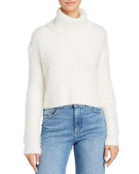 BB DAKOTA - Eyelash Cropped Turtleneck Sweater - 100% Exclusive