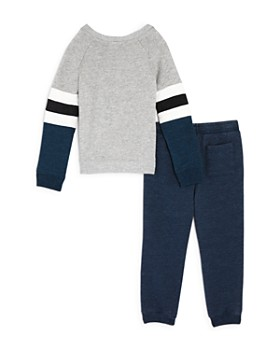 Splendid - Boys' Striped Terry Sweatshirt & Marled Jogger Pants Set - Baby