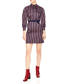 Sandro - Respect Belted Stripe Dress