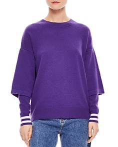 Sandro - Carmen Layered-Sleeve Sweater