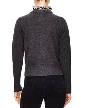 Sandro - Marbre Ruffled Collar Wool Sweater