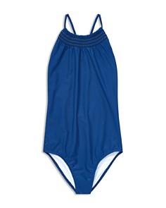 Ralph Lauren - Girls' Smocked Swimsuit - Big Kid