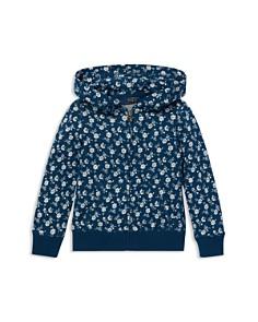 Ralph Lauren - Girls' French Terry Floral Zip-Up Hoodie - Little Kid