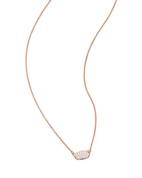 Kendra Scott - Lisa Diamond Necklace in 14K Yellow Gold, 14K Rose Gold or 14K White Gold, 15""