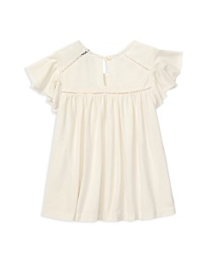 Ralph Lauren - Girls' Lace-Inset Jersey Top - Little Kid