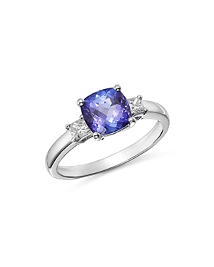 Bloomingdale's Tanzanite & Diamond Ring in 14K White Gold - 100% Exclusive
