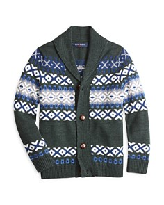 Brooks Brothers - Boys' Wool Shawl-Collar Cardigan - Big Kid