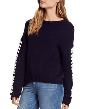 Michael Stars - Lace-Up Sleeve Sweater