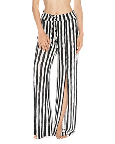 ISABELLA ROSE - Ships Ahoy Striped Crochet Cover-Up Pants