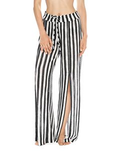 42d28566c5 Laundry by Shelli Segal Solid Draped Swim Cover-Up Pants ...