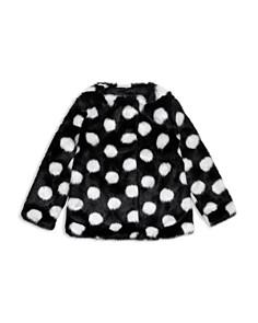 kate spade new york - Girls' Polka Dot Faux Fur Coat - Baby