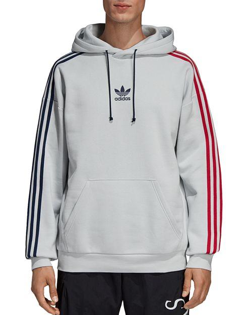 62af698ac4853 adidas Originals Bi-Color 3-Stripes Hooded Sweatshirt   Bloomingdale s