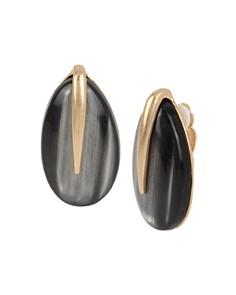 Robert Lee Morris Soho - Teardrop Stone Clip-On Earrings